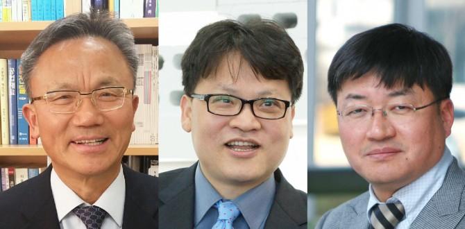 김윤근 일진전기 기술고문, 이재석 심플렉스인터넷 대표이사, 심상준 고려대 화공생명공학과 교수(왼쪽부터)